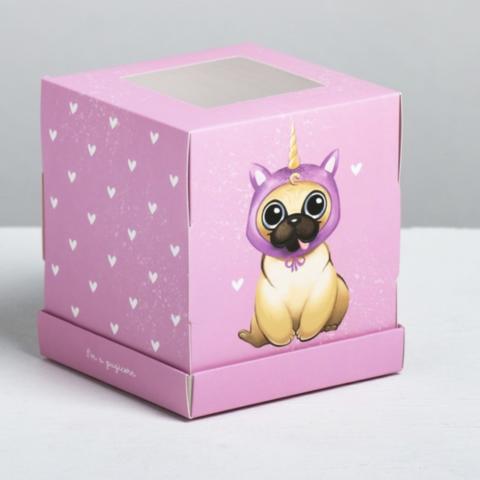 Коробка «Сладкий щенок», 9*10*9 см
