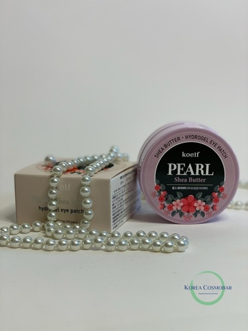Koelf Патчи гидрогелевые с маслом ши - Pearl&shea butter eye patch, 60шт