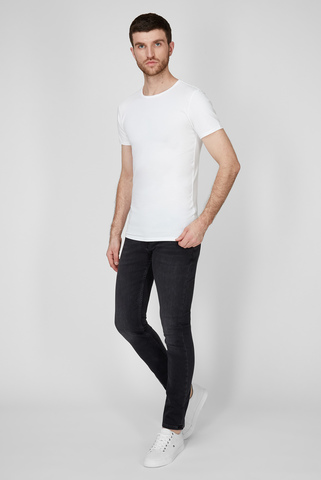 Мужская белая футболка (3 шт) Tommy Hilfiger