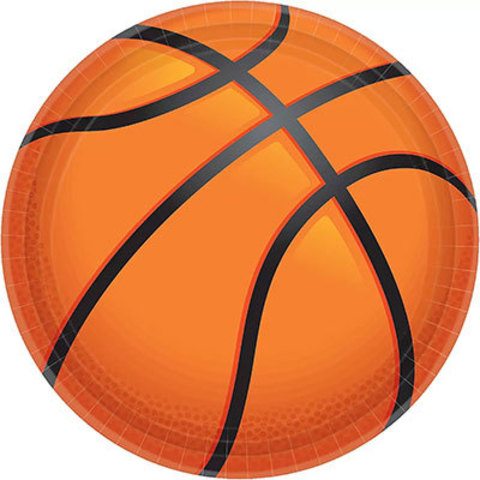Тарелки большие Баскетбол, 18 штук