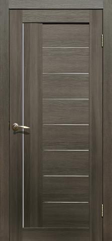 Дверь La Stella 201, цвет ясень грей, остекленная