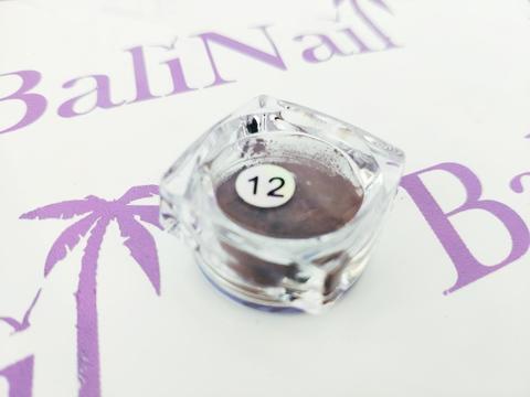 Термо-пигмент для дизайна ногтей (коричневый) #12
