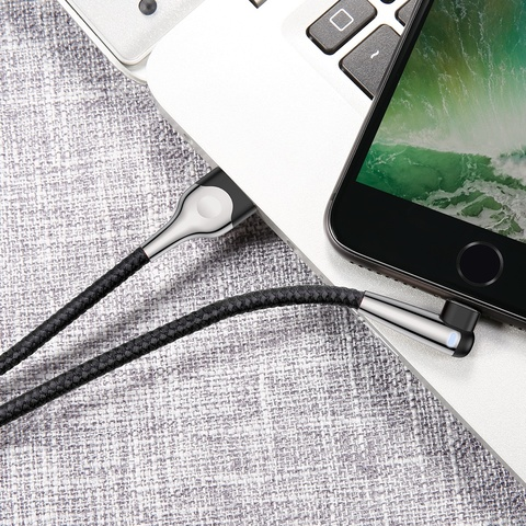 Кабель Baseus sharp-bird mobile game cable USB For iP 1.5A 2M Black