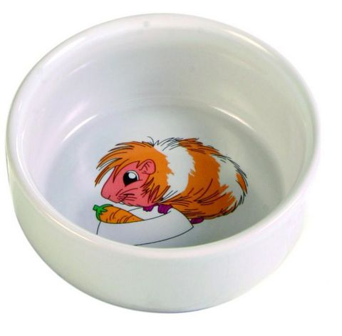 "Trixiе 6064 Миска д/грызунов белая с рисунком ""свинка"", керамика 0,3л*ф11см"