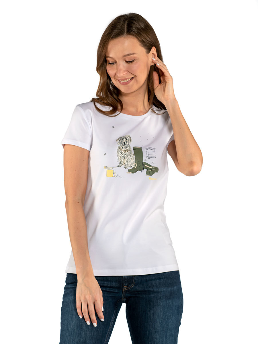 Barbour футболка Rowen  Tee LTS0484/WH11