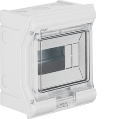 Щиток Vector IP65 для уличной установки до -25°С IK07, прозрачная дв., без клеммников, ёмкость 6М, УФ-стабилизированный, с предразметкой под метрические отверстия, пластик