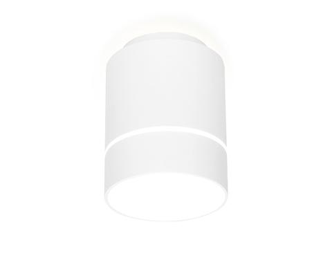 Накладной светодиодный точечный светильник Ambrella TN256 WH/S белый/песок