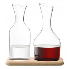 Набор из кувшинов для вина и воды на деревянной подставке, 1.2 л/1.4 л, фото 3