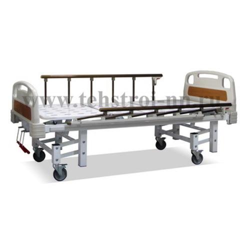 Кровать функциональная для медицинских учреждений КФ – «Техстрой 4» четырёхсекционная (КФТ-3ВВГ/В) ложе перфорация - фото