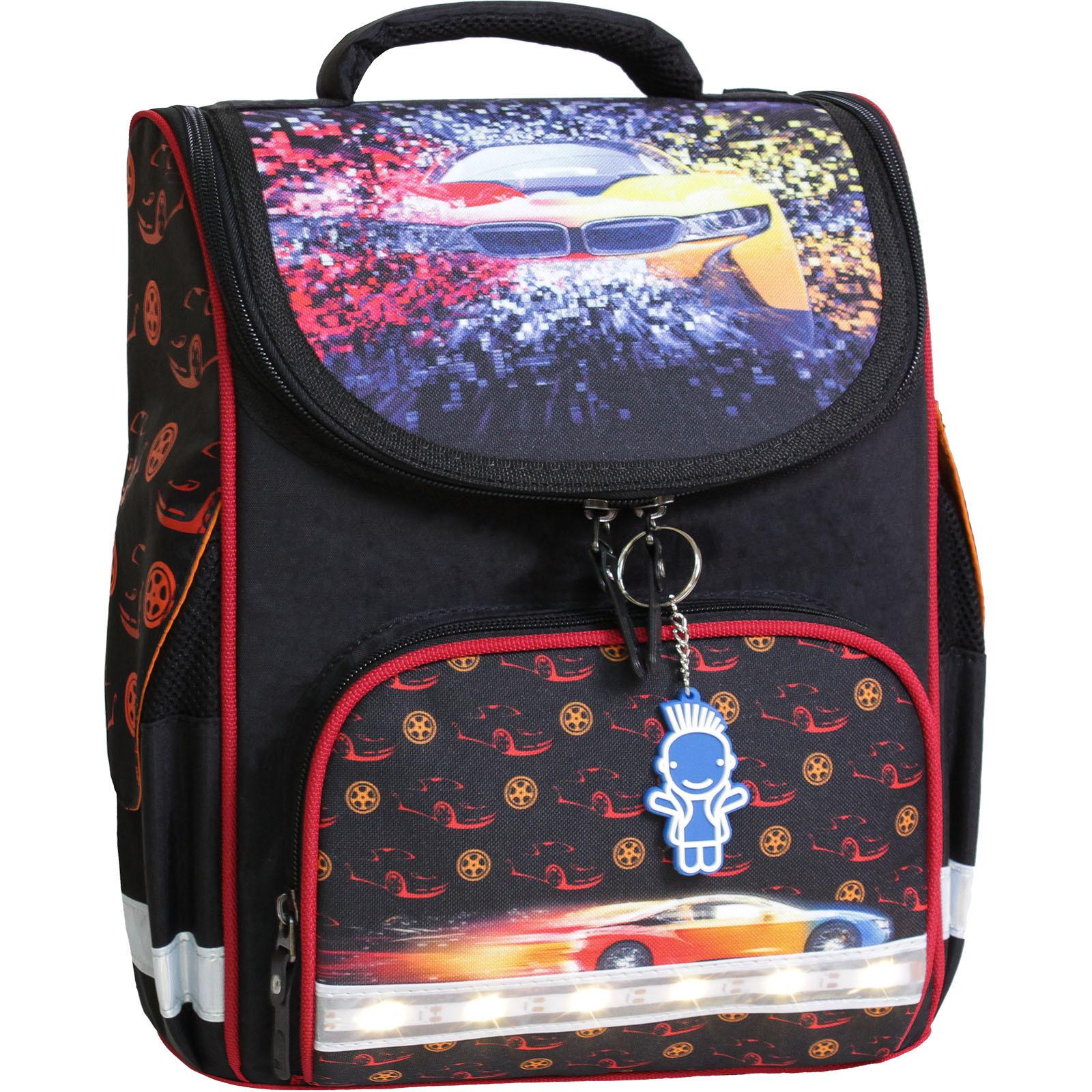 Школьные рюкзаки Рюкзак школьный каркасный с фонариками Bagland Успех 12 л. черный 417 (00551703) IMG_7987-1600.jpg