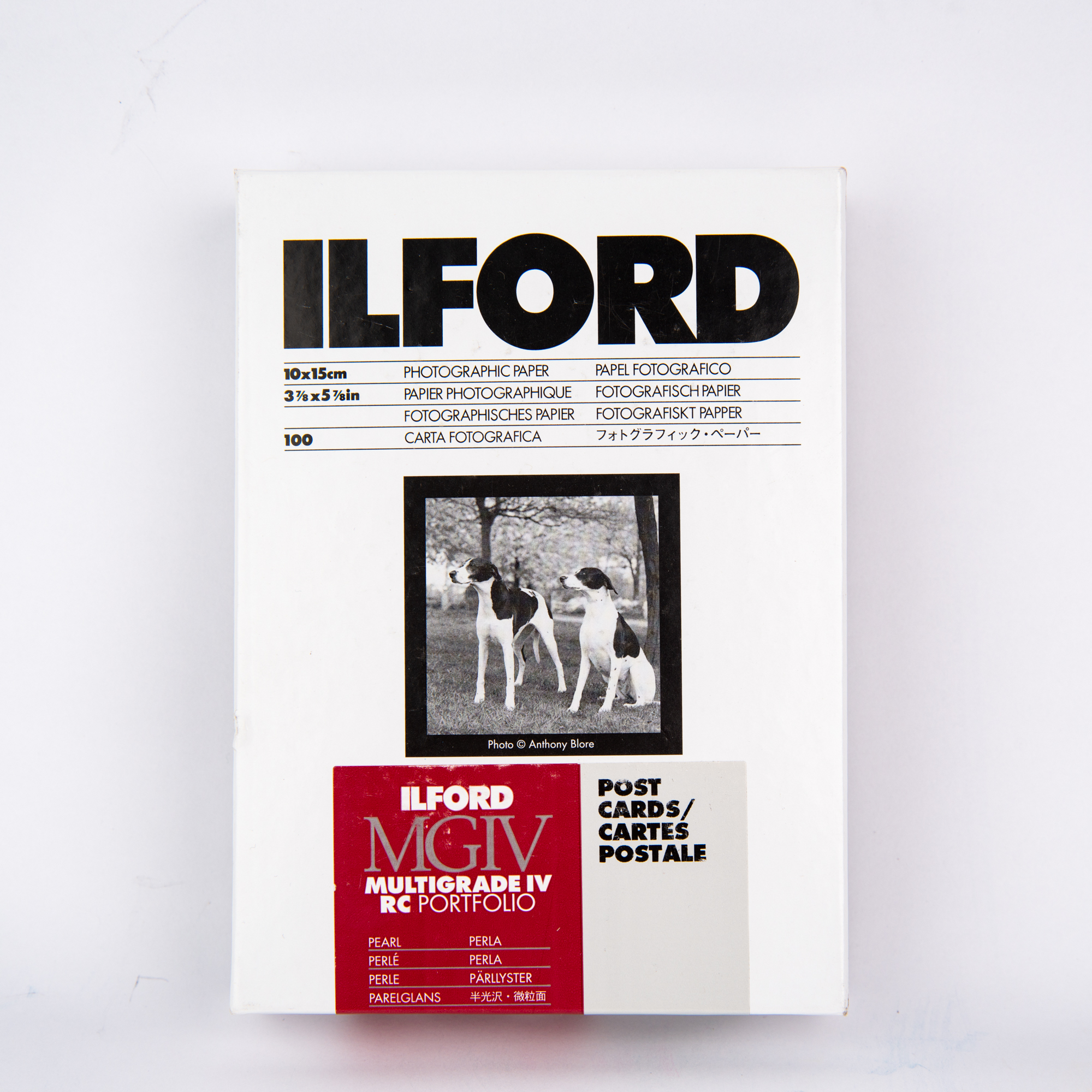 Фотобумага Ilford MGIV RC Portfolio Pearl для открыток, 10х15 см, 100 листов