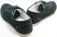 Кроссовки мокасины мужские Vitto Men Shoes 3560 Navy Blue.