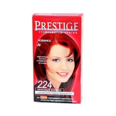 Краска для волос Prestige 224 - Красный коралл, 50/50 мл.