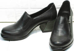 Демисезонные туфли черные на широком каблуке 6 см женские H&G BEM 107 03L-Black.