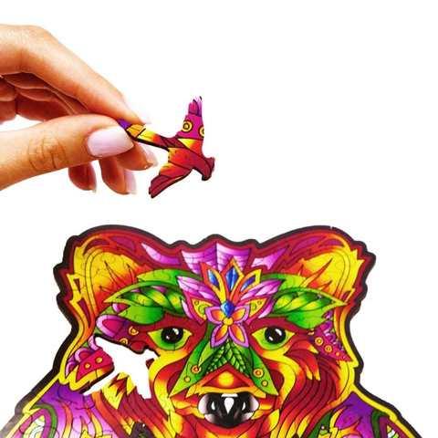 Вдохновленный медведь от Wood Trick - сборные пазлы причудливой формы, это картины, которые вы собираете сами
