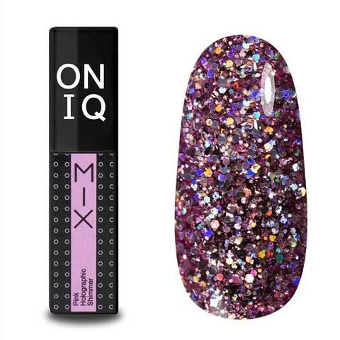 OGP-102s Гель-лак для покрытия ногтей. MIX: Pink Holographic Shimmer