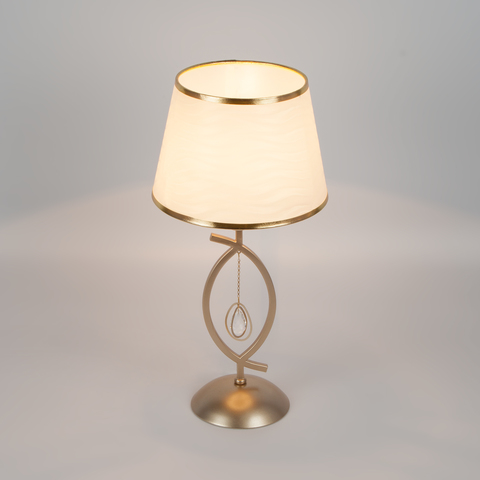 Настольная лампа с абажуром 01066/1 перламутровое золото