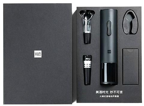 Электрический штопор с базовым набором аксессуаров NEW Xiaomi Huo Hou Electric Wine Bottle Opener BASIC (HU0047), черный