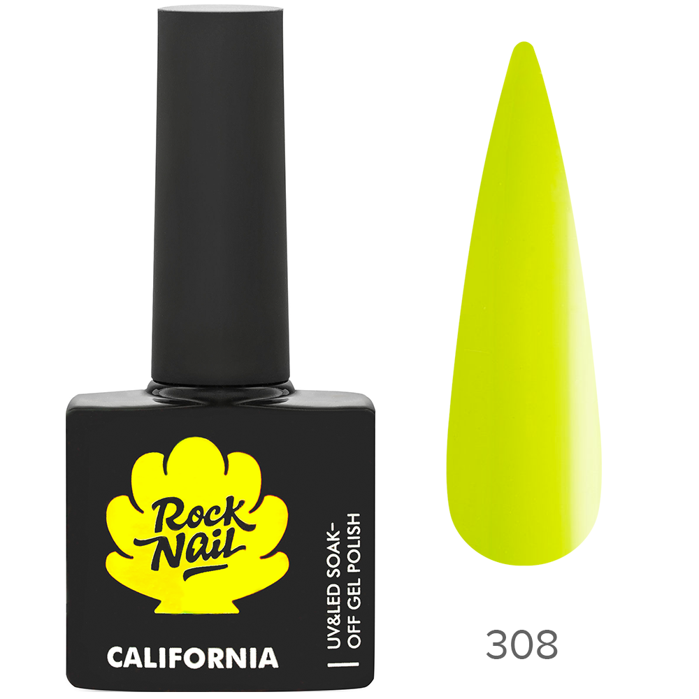 Гель-лак RockNail 308 Lime Peel 10мл