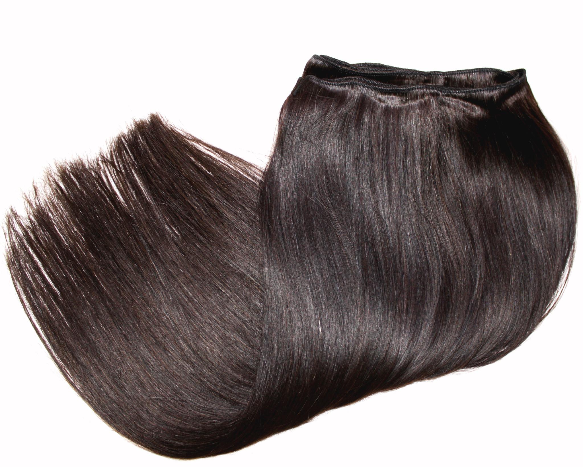 Тресс из натуральных волос длина 52 см,цвет #2А-горький шоколад