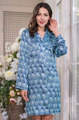 Короткий халат-рубашка Mia-Amore 3245 VENECIA (70% шелк)