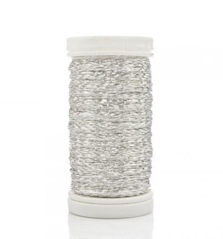 Проволока бульонка 0,3 мм 75 гр, серебряная