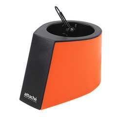 Скрепочница магнитная Attache Selection Color открытая с черными скрепками