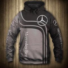 Толстовка утепленная 3D принт, Mercedes-Benz (3Д Теплые Худи Мерседес-Бенц) 01