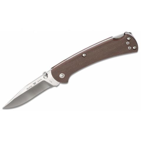 Складной нож BUCK 0112BRS6 112 Slim Pro Brown Micarta S30V, коричневая рукоять