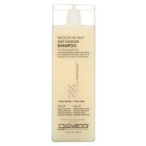 Şampun \ Шампунь \ Shampoo Giovanni, Smooth As Silk, Deep Moisture, For Damaged Hair (250 ml)