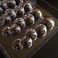 Поликарбонатная форма для шоколада \ конфет ПУЗЫРЬКИ 7в1