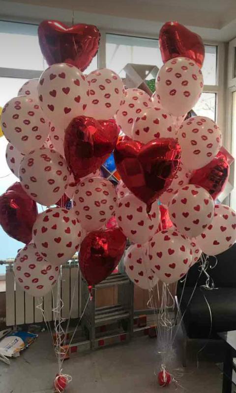 шары на день всех влюбленных 400 тнг