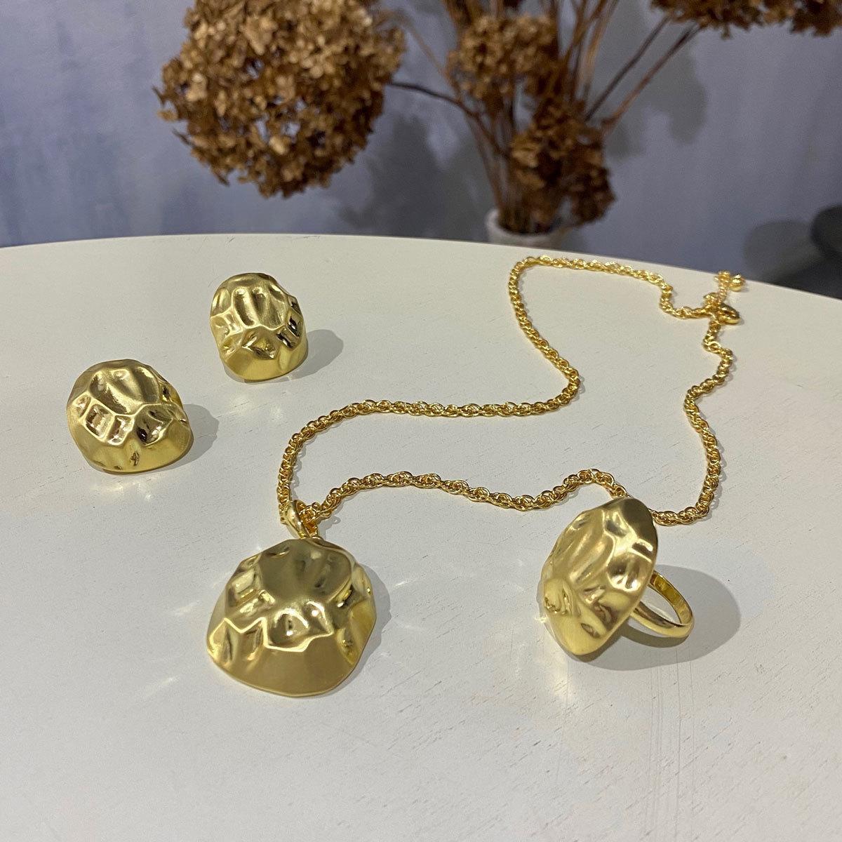 Кольцо Дюны (золотистый) Vi