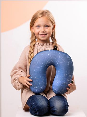 Подушка-подголовник «Созвездия», синяя-2