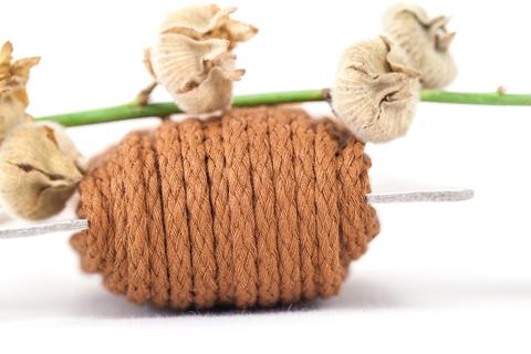 Хлопковый плетеный шнур терракотовый 4 и 5 мм
