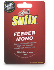 Леска SUFIX Feeder mono красная 150м 0.20мм 3,3кг