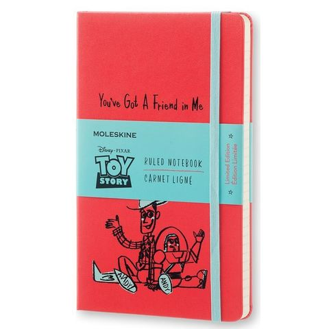 Блокнот Moleskine Limited Edition TOY STORY LETSQP060 Large 130х210мм 240стр. линейка красный