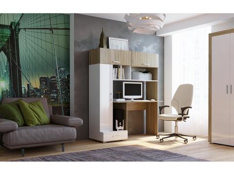 Письменно-компьютерный стол ПКС-1 белый