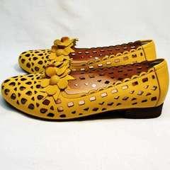Женские босоножки туфли на низком каблуке женские Phany 103-28 Yellow.