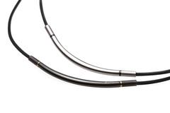 Ожерелье PHITEN RAKUWA NECKLACE X100 METAX ROUND (черно-золотой)