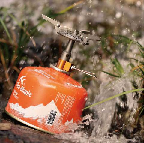 Картинка горелка туристическая Fire-Maple Heat Core FMS-116T титановая  - 3