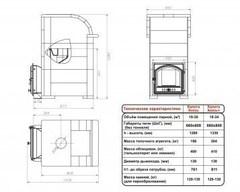 Печь Князь Калита (Чугунный тоннель с чугунной дверью, облицовка - талькохлорит)