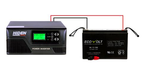 Комплект ИБП HIDEN CONTROL HPS20-0312+ECOVOLT ML 12-100