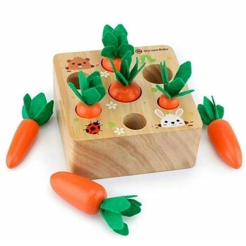 Цилиндры Монтессори деревянные Морковки