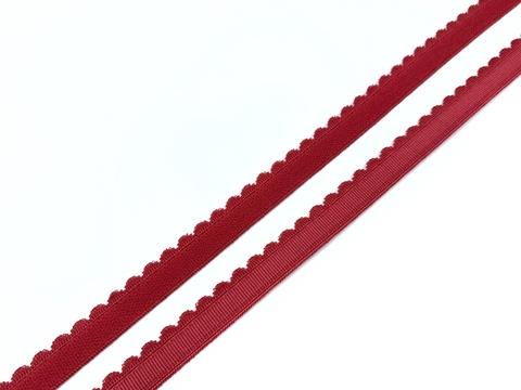 Резинка отделочная темно-красная 12 мм (цв. 101)
