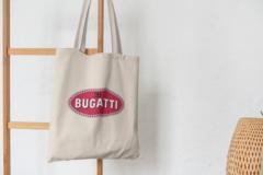 Сумка-шоппер с принтом Bugatti (Бугатти) бежевая 001