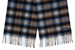 Шерстяной шарф, мужской коричнево-черный 31471