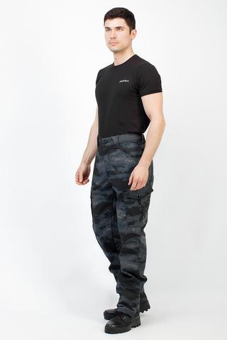Брюки Беркут (ткань Рип Стоп/Пятна серо-черные)Тритон