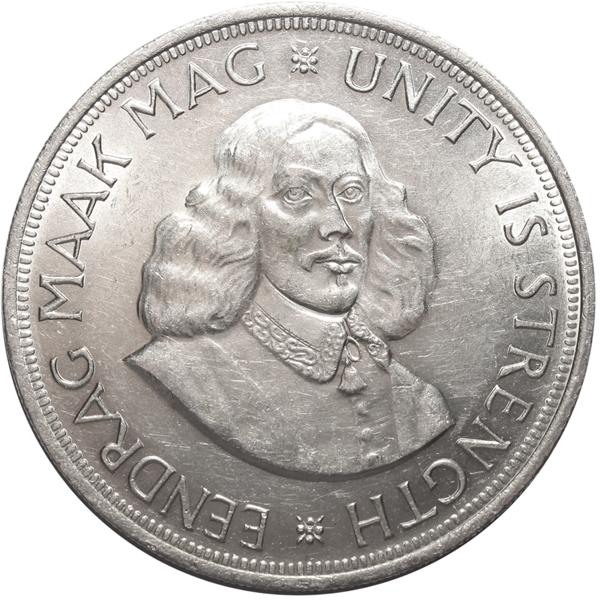 50 центов. Южная Африка. Серебро. 1963 год. AU