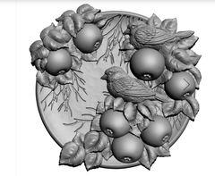 Силиконовый молд  Птицы  а (медальон)  № 0474